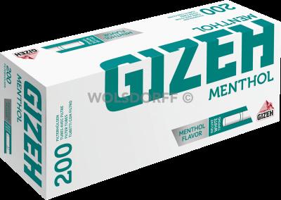 Gizeh Mentho Tip Hülsen 200er