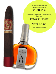 Arturo Fuente Anejo No 77 - Davidoff Cognac XO