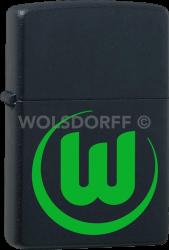 Zippo schwarz matt VfL Wolfsburg