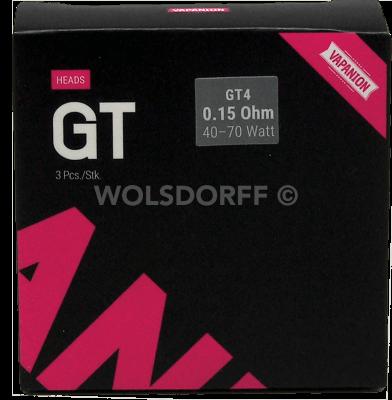 Vapanion GT4 Coil Heads 0,15 Ohm 3er