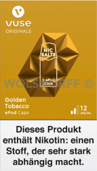 Vuse ePod Caps Nic Salts Golden Tobacco 2er