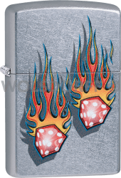 Zippo 60004135 #207 Flaming Dice