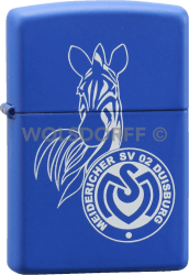 Zippo Royal Blue MSV Duisburg