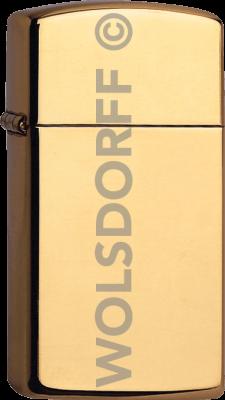 Zippo 60001177 1654 Slim® Brass High Polished