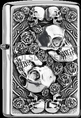 Zippo 2005891 #200 Skull and Roses