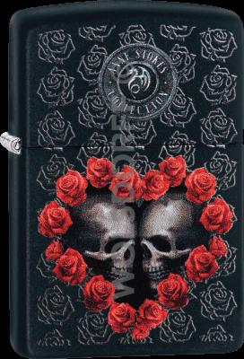 Zippo 60004214 #218 Anne Stokes Skull/Heart