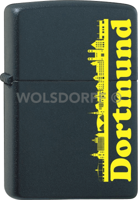 Zippo schwarz matt Dortmund
