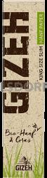Gizeh Hanf + Gras King Size Slim 34 Blatt