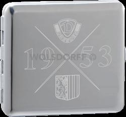 Zigarettenetui Chrom poliert Dynamo Dresden Kompass