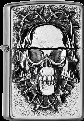Zippo 2005712 #207 Three Skulls Barbwire
