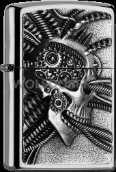 Zippo 2005057 200 Cyberpunk Skull Emblem