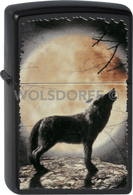Zippo 60001355 Wolf Howling to the Moon