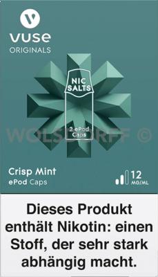 Vuse ePod Caps Nic Salts Crisp Mint 2er