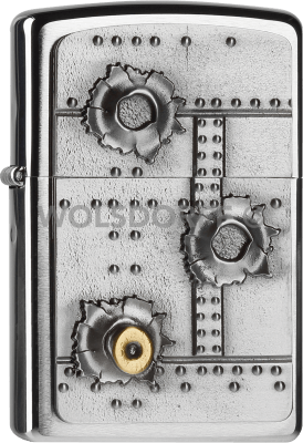Zippo 2004519 #200 Bullet Holes 3D Emblem