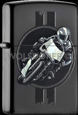 Zippo 60000915 #218 Motor Race Black Matte