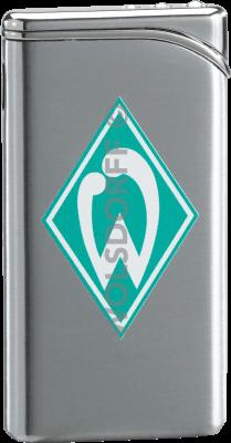 Feuerzeug Tempo Chrom matt Werder Bremen Vereinslogo bedruckt