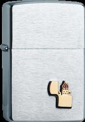 Zippo 60001340 200ZE Chrom satiniert Zippo Fzg Emblem