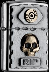Zippo 2004748 #207 Skull RIP