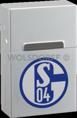 AluBox chrom mit Vereinslogo FC Schalke 04