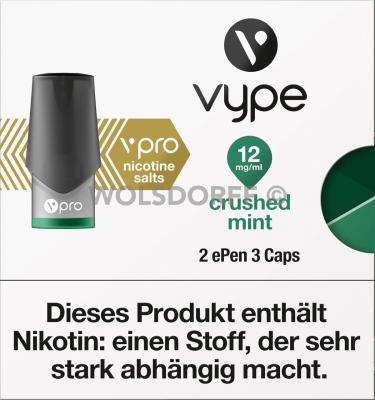 Vype ePEN 3 vPRO CAPS Crushed Mint 2er