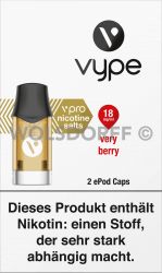 Vype ePod Caps vPro Very Berry 2er