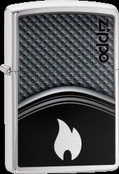 Zippo 60003330 #200 Metallic Curve with Flame