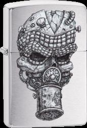 Zippo 60004237 #200 Skull Mask Design