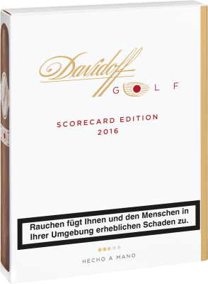 Davidoff Limited Editions Golf Score Card 2016