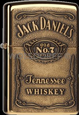 Zippo 60001212 Jack Daniels® Label Brass
