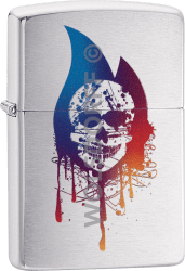 Zippo 60004285 #200 Skull Flame
