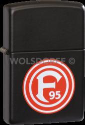 Zippo matt schwarz Fortuna Düsseldorf