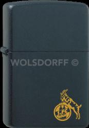 Zippo schwarz matt 1. FC Köln