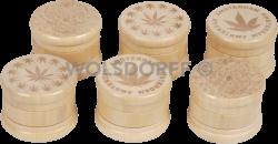 Grinder Holz hell 3-teilig Ø55mm/H45mm