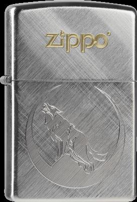 Zippo 60000225 #28182 Zippo Logo Wolf Two Tone