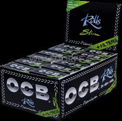 OCB schwarz Premium Rolls + Tips 24 x