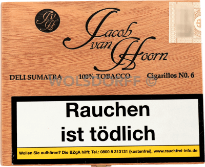 Jacob van Hoorn Cigarillos No. 6 Sumatra