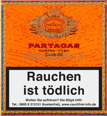 Partagas Club Cigarillos 20er