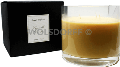 Kerze Glas Zimt & Orange