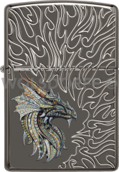 Zippo 60003945 #24095 Armor® Dragon with Flames Design