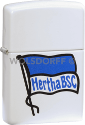 Zippo weiß matt Hertha BSC Fahne