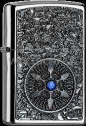 Zippo 2005035 250 Star Blue Center Emblem