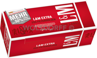 L&M Red Label Extra Hülsen 250er