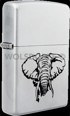 Zippo Elephant Fang Chrom Satin