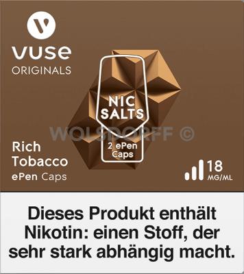 Vuse ePen Caps Nic Salts Rich Tobacco 2er