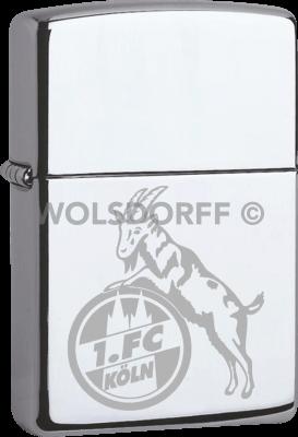 Zippo Chrom poliert 1. FC Köln