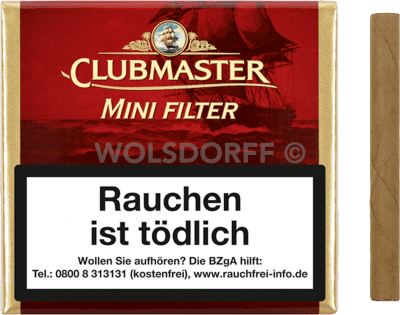 Clubmaster Mini Filter Red 20er