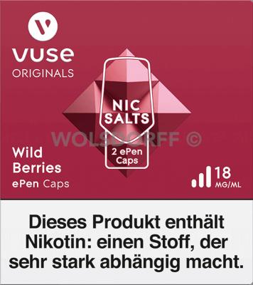 Vuse ePen Caps Nic Salts/Zero Nic Salts Wild Berries