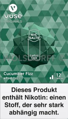 Vuse ePod Caps Nic Salts Cucumber Fizz 2er