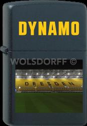 Zippo schwarz matt Dynamo Dresden Stadion