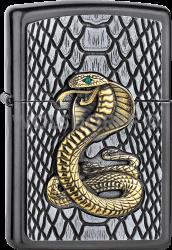 Zippo 2005928 #28378 Cobra Gold Gray